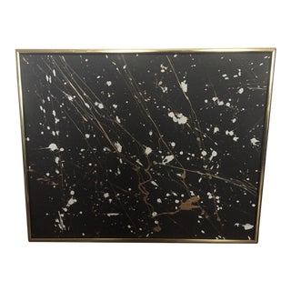 """Original Abstract """"Galaxy"""" Black Starry Night Framed Painting"""
