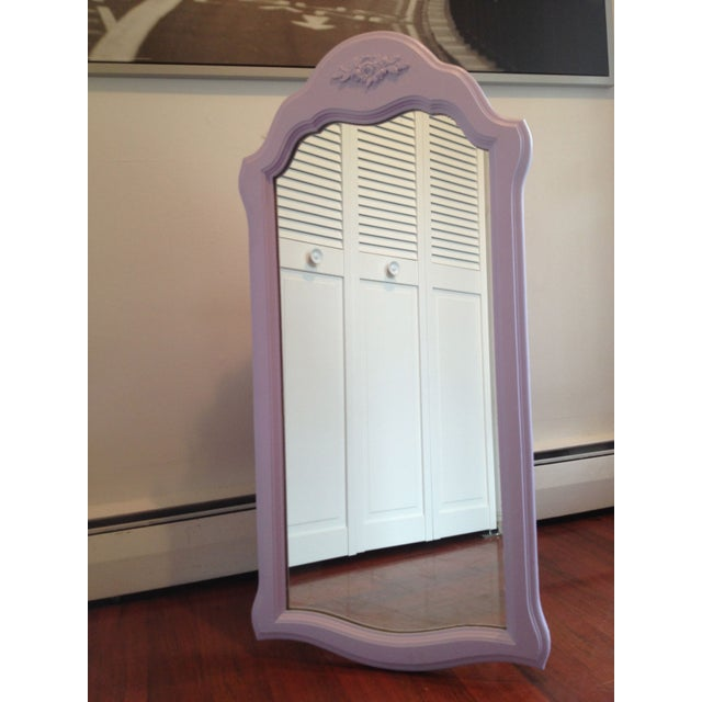 Shabby Chic Style Lavender Painted Mirror - Image 2 of 2