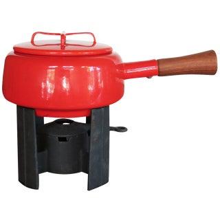 Dansk Kobenstyle Red Enamel Fondue Pot