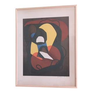 Original Abstract Colorful Lithograph by Foltyn