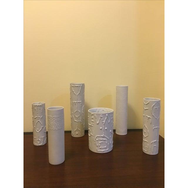 Cuno Fischer Porcelain Tribal Vases - Set of 6 - Image 4 of 4