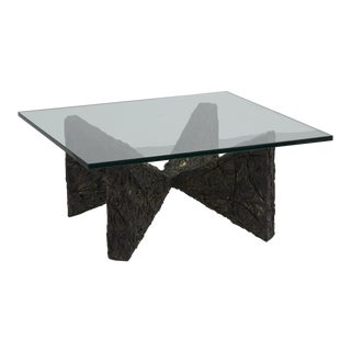 A Brutalist Resin Based Coffee Table by Adrian Pearsall 1960s