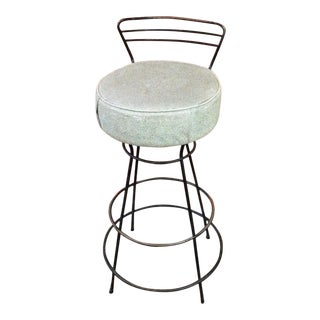 Mid-Century Modern Wrought Iron Stool