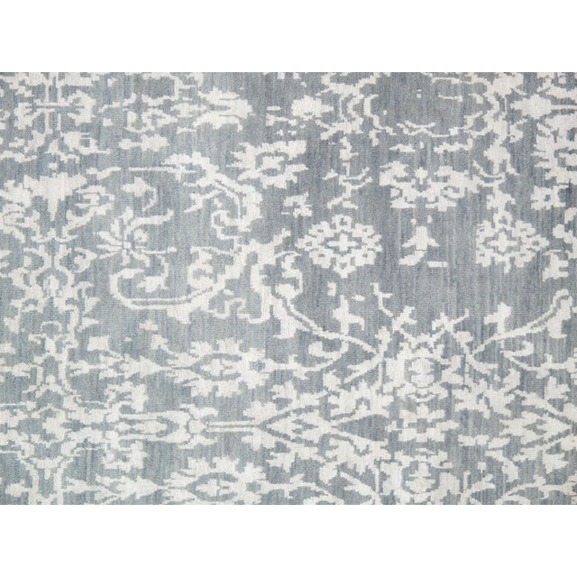"Pasargad Transitiona Vsilk & Wool Rug- 9' x 12'4"" - Image 2 of 4"