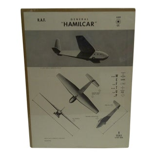 """WWII """"General Hamilcar"""" Aircraft Recognition Poster"""