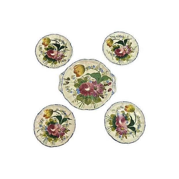 Italian Cake & Dessert Plates- Set of 5 - Image 3 of 9