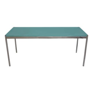 Table with glass top by Fritz Haller & Paul Schärer for USM Haller