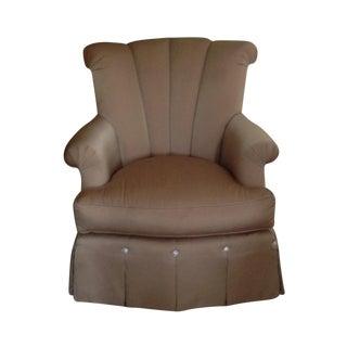 Gold Marge Carson Swivel Chair & Ottoman