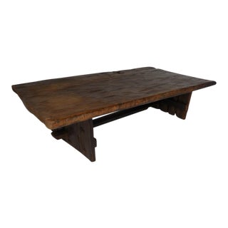 Primitive Modern Wood Coffee Table - One Wide Board