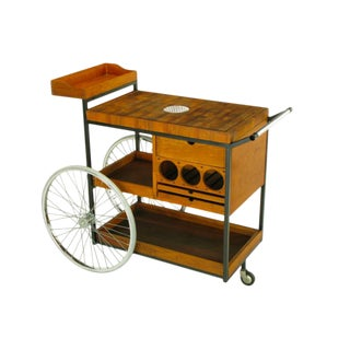 Bill W. Sanders Mid-Century Rolling Bar Cart