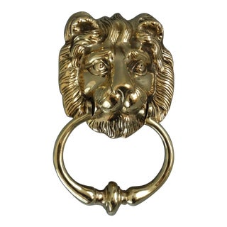 Solid English Brass Lion Door Knocker