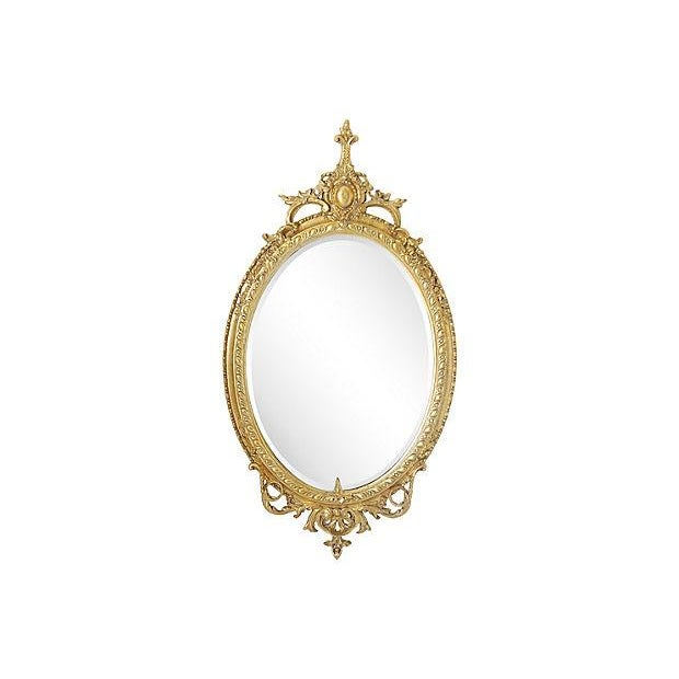 Image of Gilded Medallion Mirror