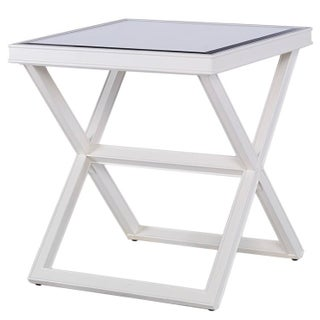 Kravet Mirrored 'X' Side Table