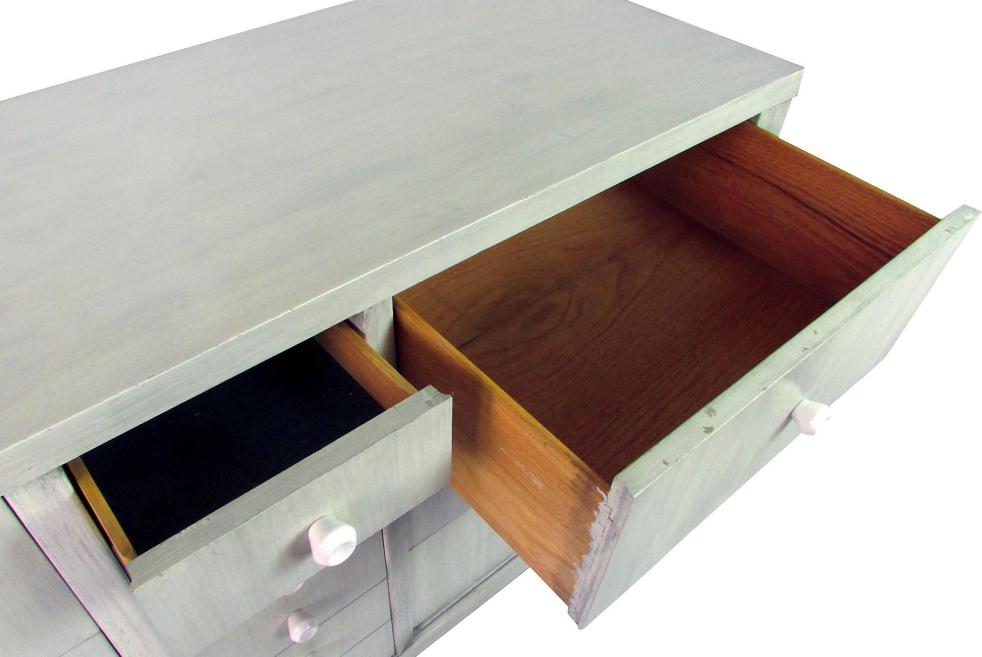 Albert Furniture Mid Century Gray Walnut Buffet   Image 5 Of 8