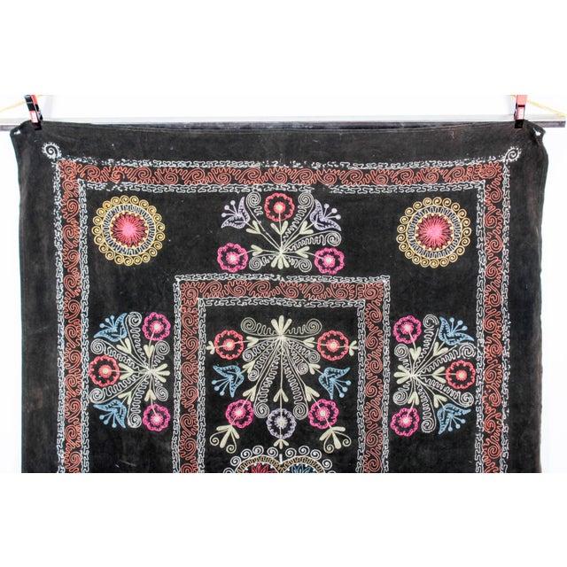Embroidered Vintage Velvet Suzani - Image 2 of 7