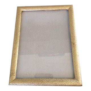 Gold Shagreen Picture Frame