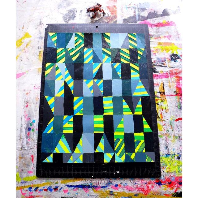 Ny15 #12 Original Geometric Painting - Image 5 of 5