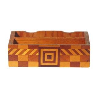 Mid-Century Handmade Desk Caddy