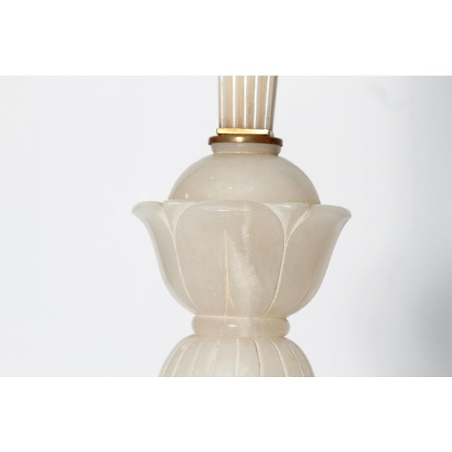 Tall Art Deco Alabaster Lamp - Image 8 of 9