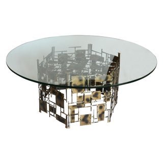 Marc Creates Vintage Brutalist Metal Coffee Table
