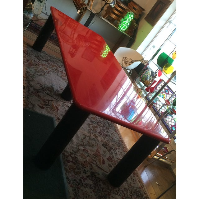 Vintage Italian Red Lacquer Table - Image 5 of 9