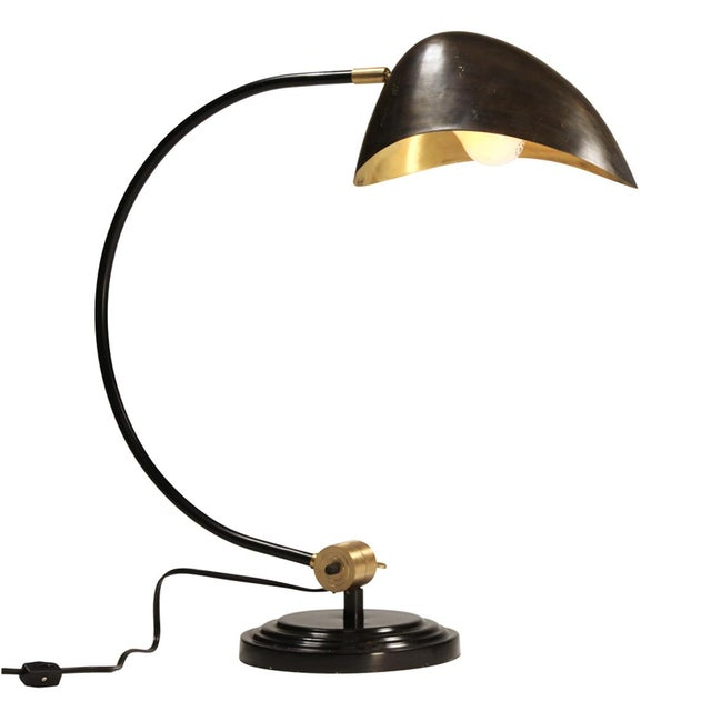 Industrial Brass Table Lamp - Image 2 of 4