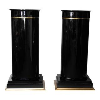 Karl Springer Style Pedestals - A Pair