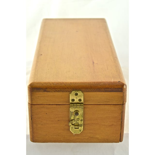 Handcrafted Wood Box with Dividers Inside - Image 2 of 7