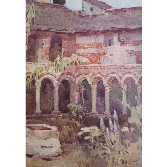 1905 Ella du Cane Print, Il Chiostro di Piona, Lago di Como - Image 4 of 5