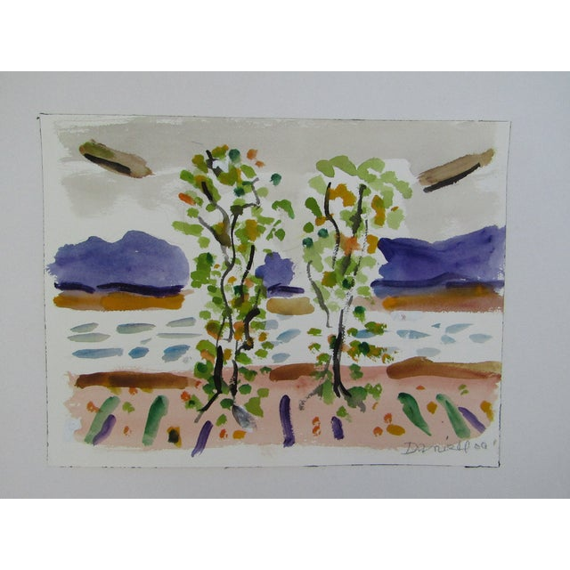 Image of Birch Trees by the Ocean by George Daniell