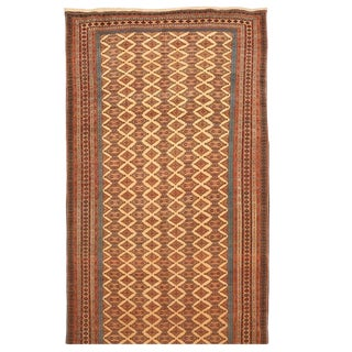 Exceptional Extremely Finely Woven Antique Tekke Mauri Carpet