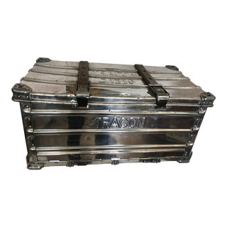 Polished Metal Tracon German Aviation Trunk