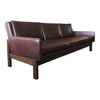 Leather & Rosewood Sofa
