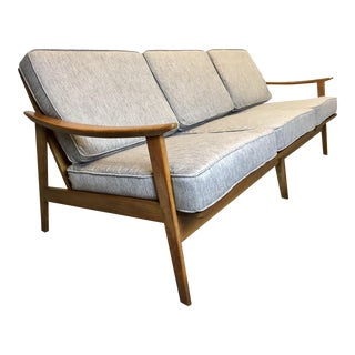 Danish Modern Light Gray Sofa