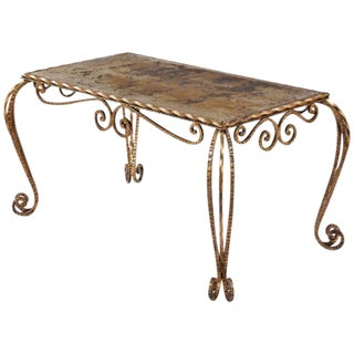 1940s French Louis XV Style Mirrored Top Coffee Table