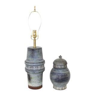 Mid-Century Raymor Lamp and Urn Set