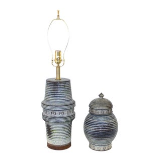 Mid-Century Raymor Lamp and Urn Set
