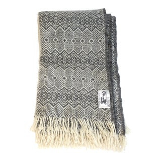 Amana Heather Gray Nordic Wool Throw