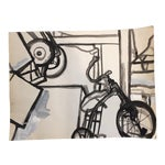 Image of Vintage Graphic Black & White Abstract Watercolor