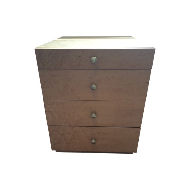 Image of Tiger Maple Nightstands - Pair