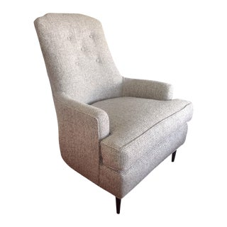 Mid Century Gray Accent Chairs