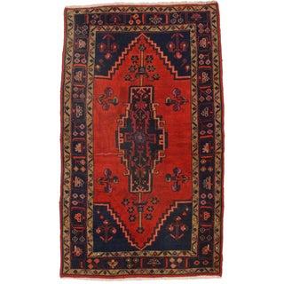 Hand-Knotted Persian Hamedan Rug - 3′10″ × 6′3″