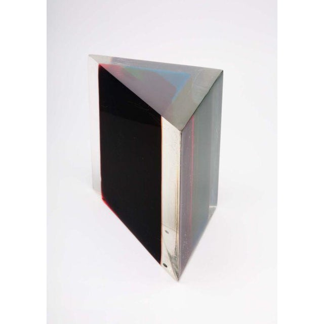 Acrylic Rainbow Triangular Sculpture by Dennis Byng - Image 2 of 5