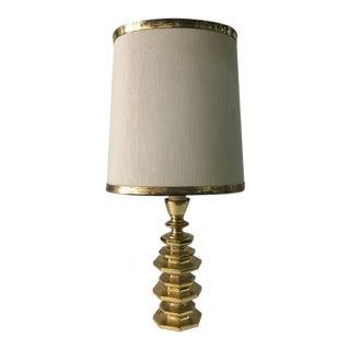 Arnaldo Pomodoro Style Heavy Bronze Lamp