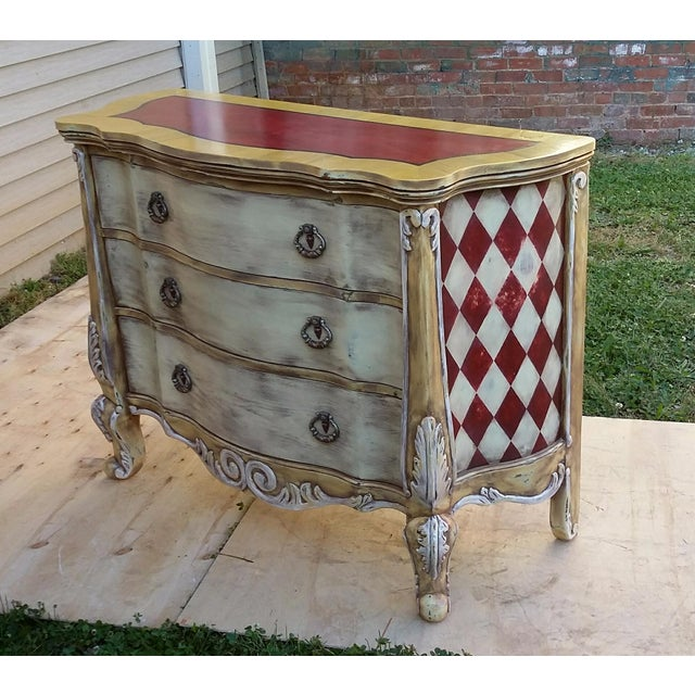 Hand Painted Harlequin French Dresser - Image 2 of 9
