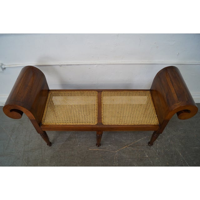 Anglo Indian Rolled Arm Window Bench Chairish