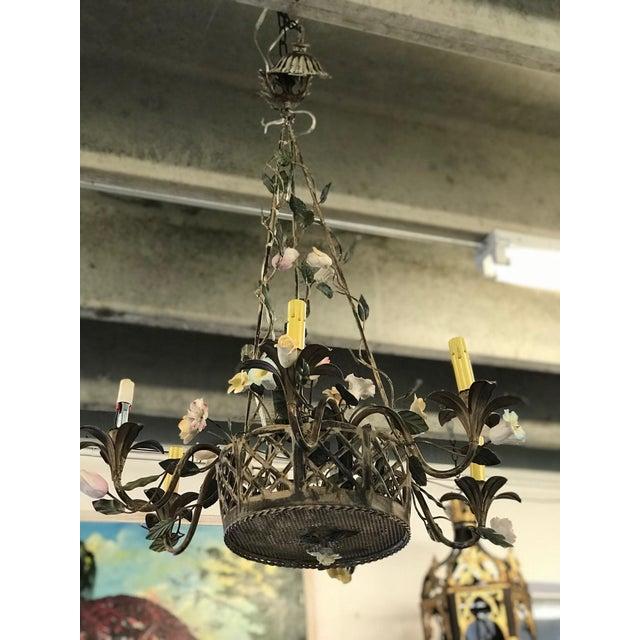 Vintage Metal Floral Chandelier - Image 5 of 5