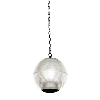 1970 Paris Holophane Globe Streetlight Pendant Light