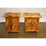 Image of Tortoise Bamboo Nightstands - A Pair