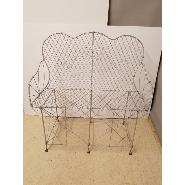 19th Century French Wire Garden Settee or Bench - Image 2 of 5